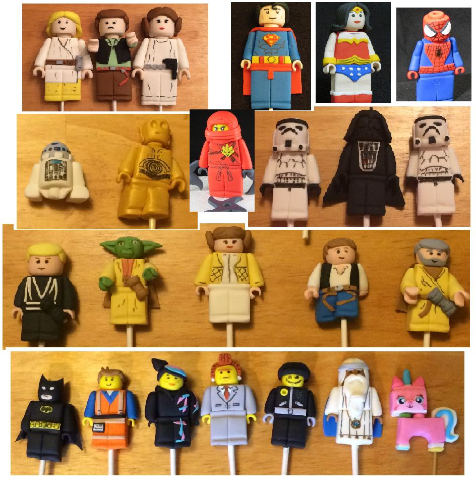 The Lego Movie Star Wars Superheros Minifigures Edible 3D Cake Decoration Topper