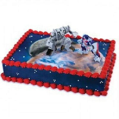 Transformers Optimus Megatron Cake Decorating Kit. A Birthda