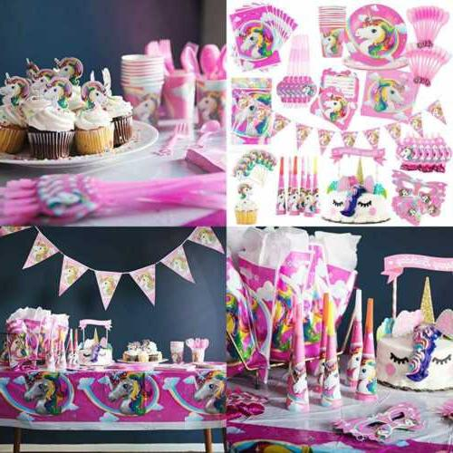Unicorn Party Supplies Set Kids Birthday Girls W Decorations