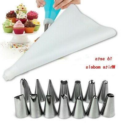 US Decorating Supplies Set Tips Pastry Bags Nozzles