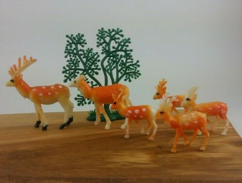 Vintage Figurines Cake Decorations xmas cabin