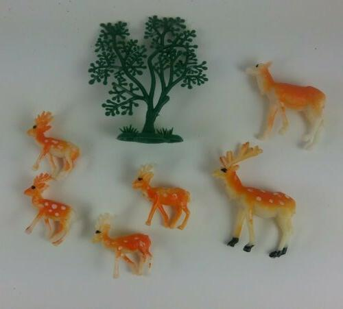 Vintage Figurines Decorations cabin 70s