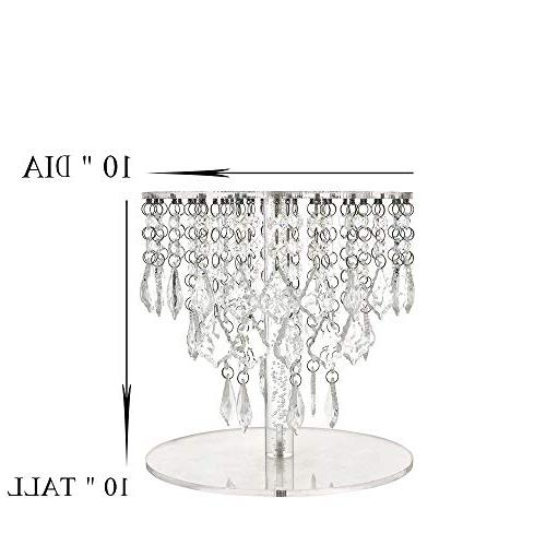 Butterflyevent Wedding Crystal Bling Chandelier Cake Stand Transparent Cascading Wedding Party Cake Tower Disaplay Centerpieces