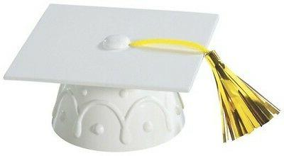 White Graduation Cap Hat Cake Topper Kit Cupcake Candy Cooki