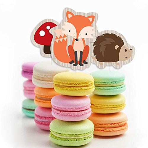 Woodland Creatures - Cupcake Shower Birthday Party Clear Treat Set