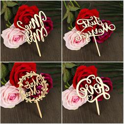 Laser Cut Cake Decorations Wedding Supplies Wooden Letters W