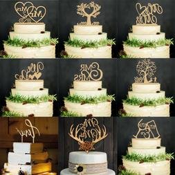 Laser Cut Wedding Supplies Cake Decorations Wood Cake Topper