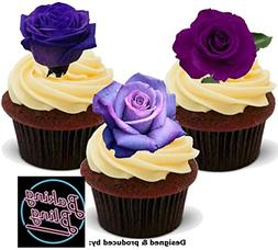 12 x Lavender Purple Rose Mix - Fun Novelty Birthday PREMIUM