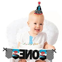 Big Dot of Happiness Let's Go Racing - Racecar - 1st Birth