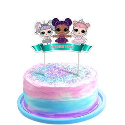LOL Cake Topper, 1st Birthday Toppers, Cute Girls Dolls Bday