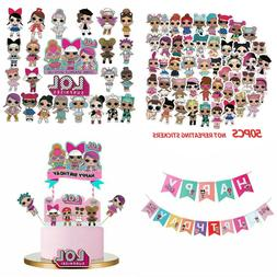 LOL Surprise Birthday Cake Cupcake Decoration Topper Party S
