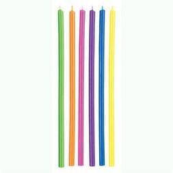 Multicolor Long Candles, 12 Candles Per Pack