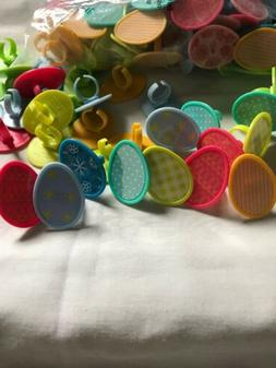 LOT OF 24 EASTER EGG DECORATING CUPCAKE RINGS BY DECOPAC FRE