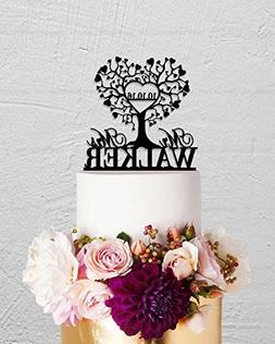 Love Tree Wedding Cake Topper Mr And Mrs Name Personalized R