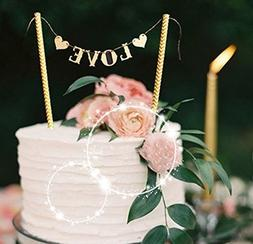 Love Wedding Cake Banner Topper, Party Supplies Decorating C