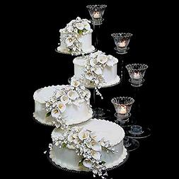 Efavormart Lovely 4 Tier Acrylic 16 inch Crystal Glass Clear