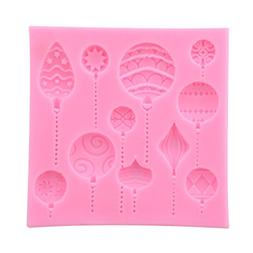 Hi-Unique Lovely Hot Air Balloon Silicone Fondant Emboss Sug