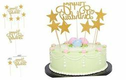 LXZS-BH 7 Pack Glitter Letters Happy Birthday Cake Topper De