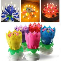 Magic Cake Birthday Lotus Flower Candle Decoration Blossom M