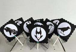 maleficent cupcake toppers cake decor party supplies