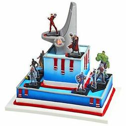 DecoPac Marvel Signature Avengers Headquaters DecoSet Cake T