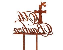 Mi Bautizo Wood Cake Topper Baptism Decorations Christening