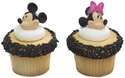 Mickey Mouse and Minnie Mouse Cupcake Rings Toppers, pack of