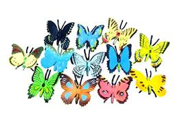 Izzy Designs 24-piece Colorful Mini Butterfly Toy Set- Reali