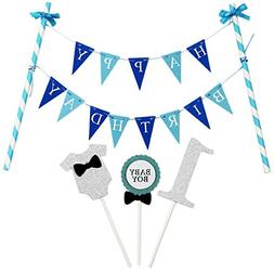 KUNGYO Mini Happy Birthday Cake Bunting Banner Cake Topper G