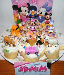 Disney Minnie Mouse Deluxe Set of 11 Figure Cake Toppers / C