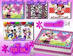 Minnie Mouse edible Birthday Cake or Cupcake toppers picture