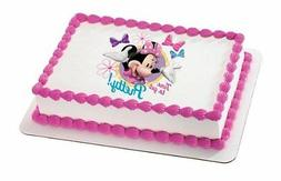 Minnie Mouse Edible Cake Topper Decoration for 1/4 sheet cak
