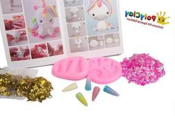 Polyclay Modeling Clay Crafting Unicorn Accessories Kit 10 P