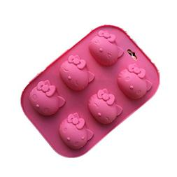 Mold Cake - Silicone Cake Mold 6 Even Hello Kitty Do Not Sti