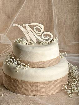 Monogram Acrylic Wedding Initial Cake Topper in any letter A