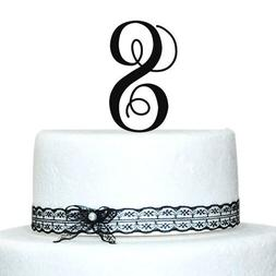 "Monogram Cake Toppers -Unique Wedding Cake Toppers - 5"" Lett"