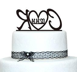Buythrow Monogram Wedding Cake Topper,custom Initial in Any