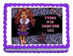 Monster High Clawdeen Wolf party edible cake image cake topp