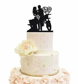 Motorcycle Wedding Cake Topper Anniversary Wedding Party Dec