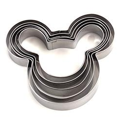 ZICOME 5-Piece Mouse Shape Cookie Cutter Set, Stainless Stee