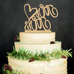 Hatcher lee Mr and Mrs Cake Topper Wood Wedding Cake Topper