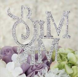 Mr and Mrs Sign, Bride And Groom Cake Topper Silver, Wedding