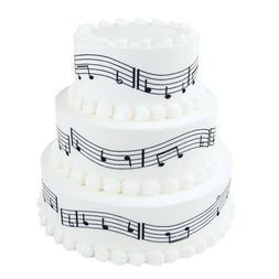 Musical Notes - Cake Side Designer Strip - Edible Cake/Cupca