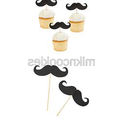 Fun Express Mustache Food And Cupcake Party Picks - 25 Piece
