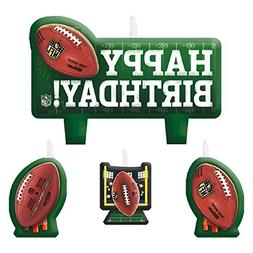 Amscan NFL Drive Birthday Party Molded Birthday Candle Set,