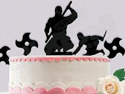 Ninja Birthday Cake Topper comes with all ninjas