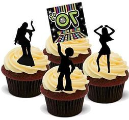 NOVELTY SEVENTIES DISCO Assortiment B de cupcakes comestible