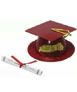 Oasis Supply Graduation Cap Cake Topper with Diploma, Maroon