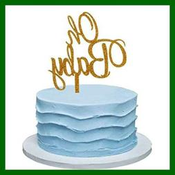 MZYARD Set of 30 Golden Oh Boy Cupcake Toppers Party Decors Baby Shower Decors
