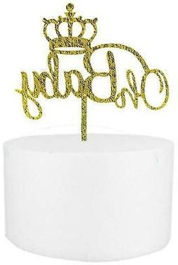 Oh Baby Crown Cake Topper Boy & Girl Shower Party Supplies D